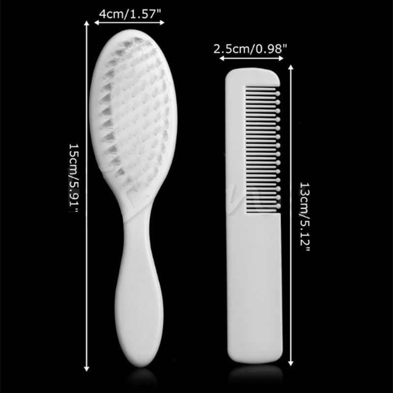 Panas Bayi Rambut Sikat Set Cute Sisir Bayi Anak Gadis Set Sisir & Sikat Perawatan Rambut Styling Alat Putih Dropshipping