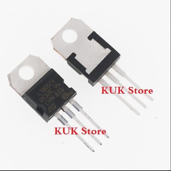 20PCS/LOT NEW L7805CV L7805 7805 LM7805 KA7805 Voltage Regulator 5V TO-220 In Stock
