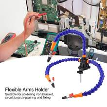 Flexible Arms Holder Flexible 3 Arms Soldering Holder Blue Multifunctional for Circuit Board Repairing and Fixing(China)