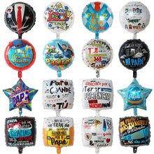 10 pçs 18 polegada colorido espanhol feliz dia super papai foil balões feliz feliz dia dos pais hélio globos festa de aniversário decoração presente