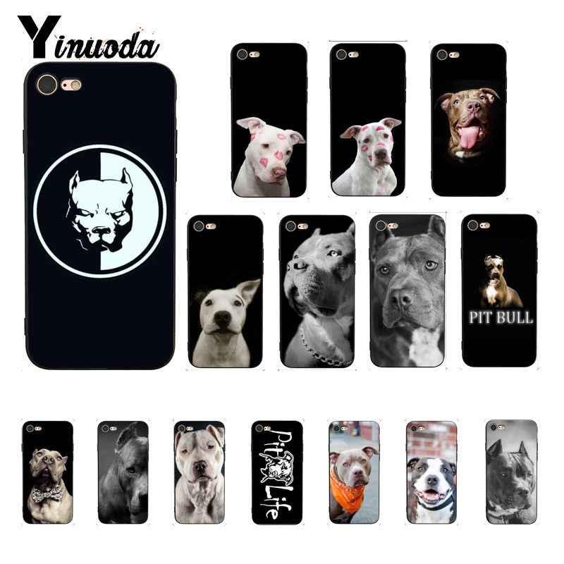 Yinuoda Pit Bull güzel Pet köpek Pitbull müşteri yüksek kaliteli telefon iphone için kılıf 8 7 6 6S X XS MAX 5 5S SE XR 10 11 Pro Max