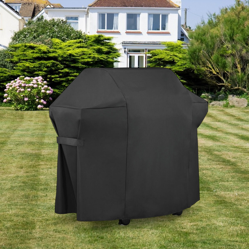 Black Waterproof BBQ Grill Barbeque Cover Outdoor Rain Grill Barbecue Anti Dust Protector For Gas Electric Charcoal Barbe