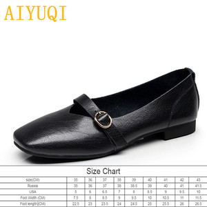 Image 2 - AIYUQI kadın düz ayakkabı 2020 bahar yeni hakiki deri kadın rahat ayakkabılar büyük boy 35 43 rahat anne ayakkabısı kadın