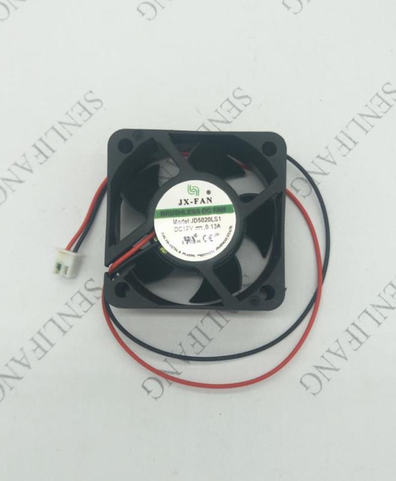 Genuine For JX-FAN JD5020LS1 DC12V 0.13A 2pin 2wire 5020 50X50X20MM Cooling Fan