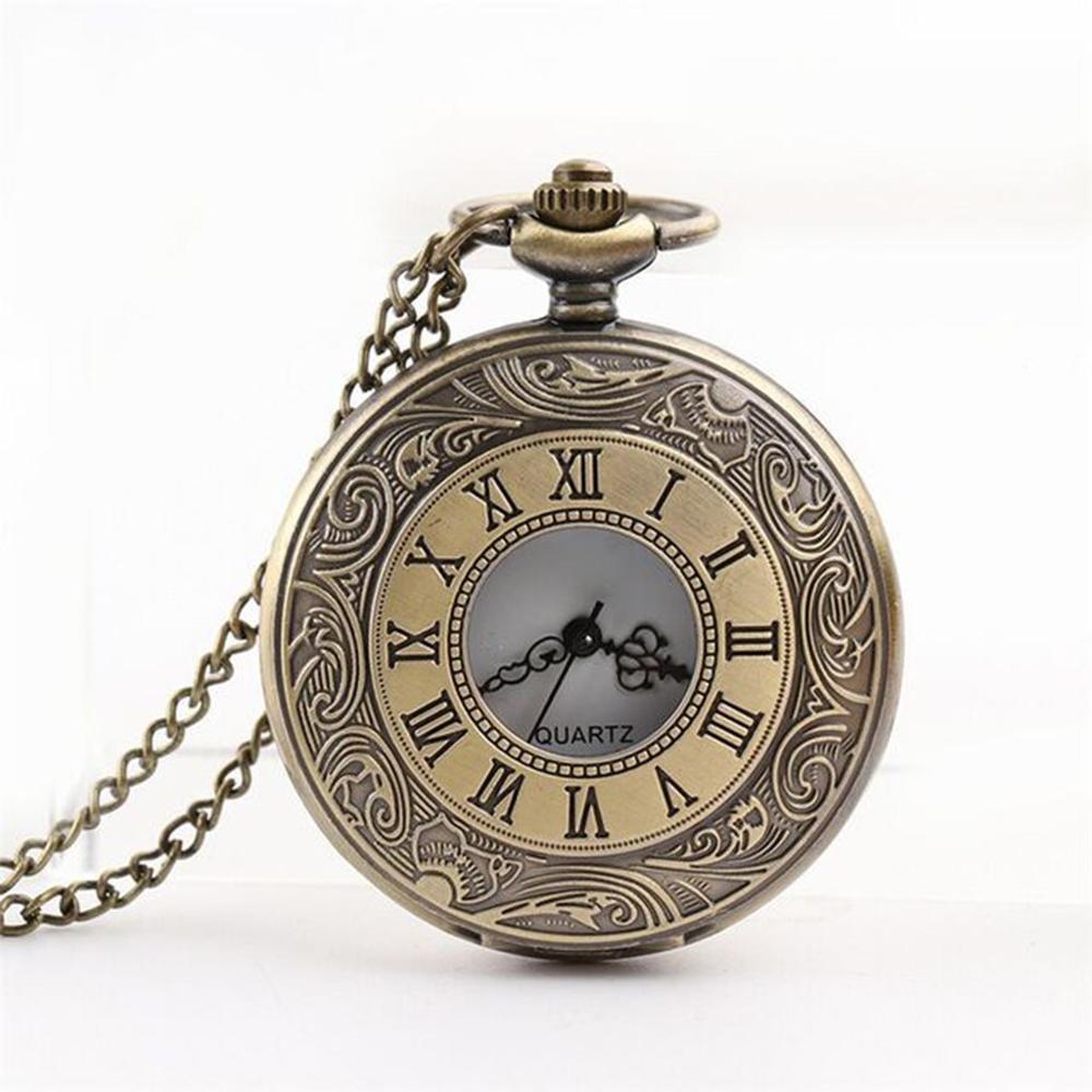 Retro Hollow Pocket Watch Personalized Pattern Steampunk Vintage Quartz Roman Numerals Pocket Watch 2019 Pendant Clock Top Gifts