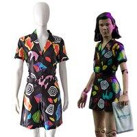 Wholesale TV Stranger Things 3 Cosplay Costume Eleven Dress For Girls Women Halloween Carnival Costumes Dress