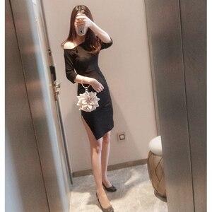Image 2 - Fairy Style Evening Mini Bag Lotus Flower 2020 Luxury Lady Rhinestone Ring Handbag Women Girl Shoulder Party Wedding Banquet