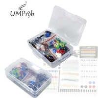 Kit de Inicio Resistor/LED/condensador/cables de puente/Kit de resistencia de placa de pruebas con caja de venta al por menor para arduino UNO r3 MEGA 2560
