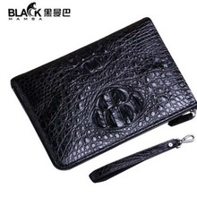 heimanba new quality goods  Thai crocodile handbag commercial clutch leather full leather large envelope bag men clutch bag heimanba crocodile men handbag men small double zipper multi card youth luxury real leather thai crocodile handbag business bag