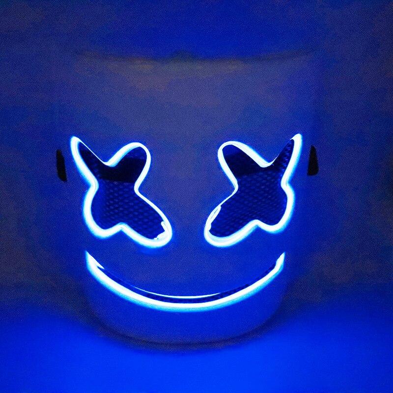 Baida Electric Syllable Cotton Candy LED Music Mask Marshmello Celebrity Style Mask Cross Border For Halloween