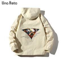 Una Reta Hip Hop Hooded Jacket Men Autumn New Fashion Harajuku Personality printing Tracksuit Coat Man Streetwear Jacket Coat(China)