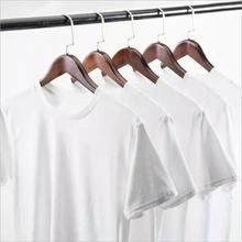 2020 puro branco masculino algodão algodão poliéster manga curta em torno do pescoço verão duplo costurado mangas e bainha 1 pçs
