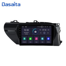 "Dasaita 10.2 ""HD Touch Screen Android 9.0 Auto Multimedia Speler voor Toyota Hilux 2016 2017 2018 RHD Quad Core 16G ROM MP3(China)"