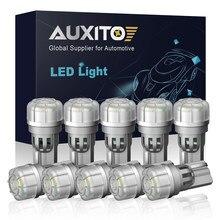 AUXITO 10 Uds W5W T10 LED 194 bombilla luces interiores para automóvil para Opel Corsa D C Vectra B Zafira Meriva Antara Citroen C5 C3 C4 Picasso