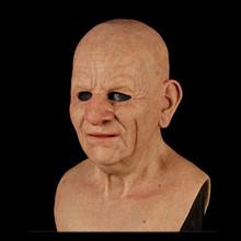 Straszny stary człowiek na całą głowę lateksowe Halloween śmieszne maski Supersoft stary człowiek maska dla dorosłych przerażające strona dekoracji głowy kask maski tanie tanio Żywica CN (pochodzenie) Unisex Horror 12-15 lat dropshipping wholesale