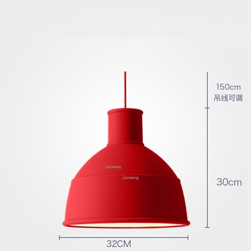 Новинка, подвесной светильник в скандинавском стиле, для столовой, макарон, s, смоляный светильник, светильники, кухонные подвесные лампы, подвесной светильник для гостиной, светодиодный, внутреннее освещение - Цвет корпуса: Red 32CM