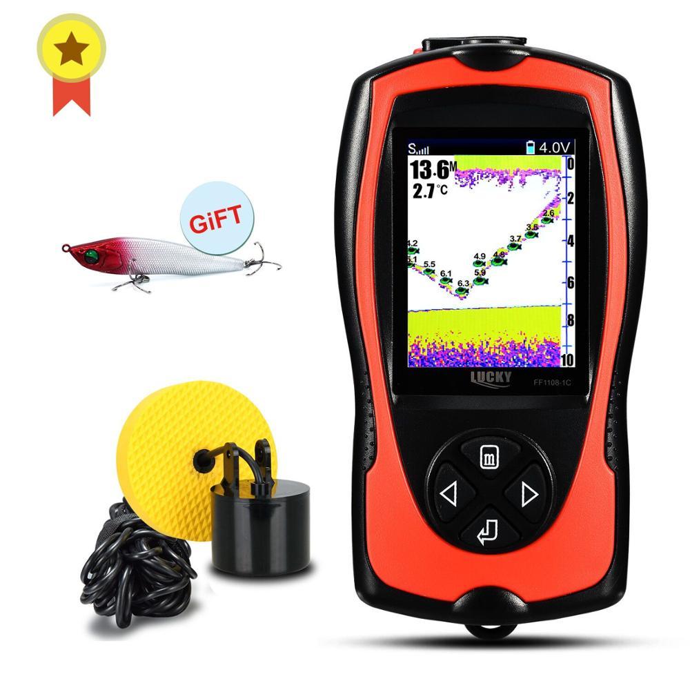 FF1108-1CT chanceux & FF1108-1C détecteur de poisson Portable écran couleur profondeur sondeur sondeur alarme étanche sondeur sondeur