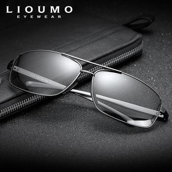 LIOUMO Top Photochromic Sunglasses Men Women Polarized Chameleon Glasses Driving Goggles Anti-glare Sun Glasses zonnebril heren 4