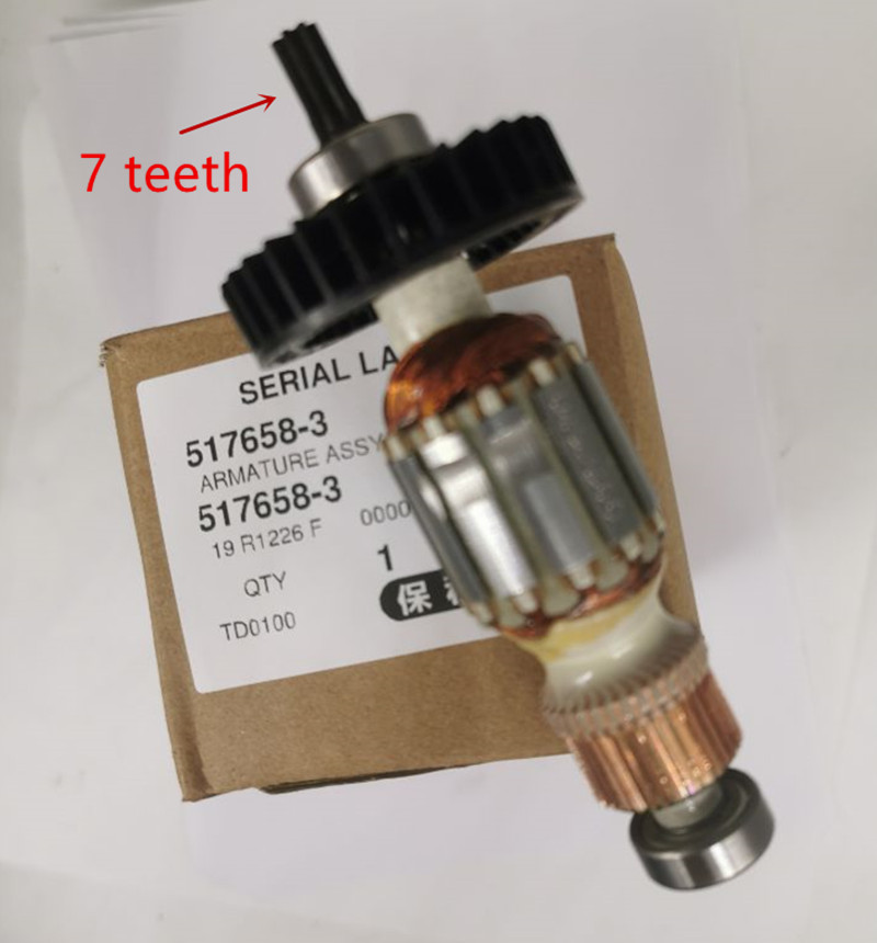 ARMATURE 220V Rotor 517658-3 Replace For Makita TD0101 TD0100  TD0101F 517659-1
