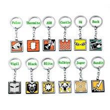 2019 Game Rainbow Six 6 Siege Keychain  portachiavi llaveros men women fashion jewelry key chains gift Key chain around the game цены онлайн