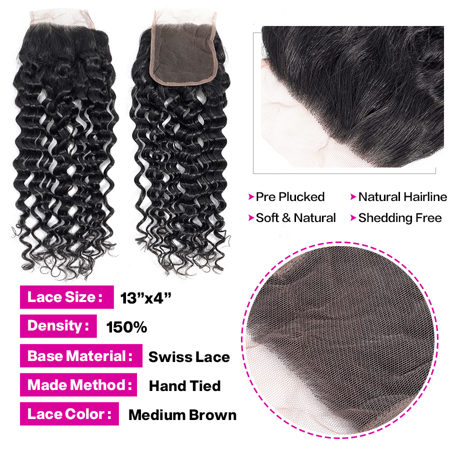 Hermosa Water Wave Bundles With Closure Brazilian Hair Bundles With Closure Non Remy Hair 3 Bundles Hermosa Water Wave Bundles With Closure Brazilian Hair Bundles With Closure Non-Remy Hair 3 Bundles With Closure Middle Ratio