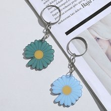 Little Daisy Keychain Keys Women DIY Acrylic Keyring Jewelry Bag Car Key Ring Flower Key Chains for Lovers(China)