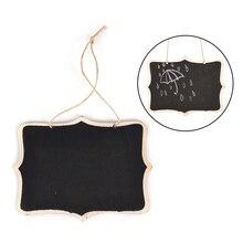 Tablero negro de madera de montaje en pared con cuerda/pizarra de madera Memo/tablero de mensajes