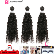 """DreamDiana бразильские кудрявые вьющиеся волосы 1/3 шт 8 """" 30"""" Remy сотканые волосы наращивание волос натуральный Цвет 100% человеческие волосы пряди низкий коэффициент"""