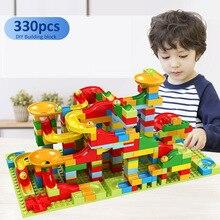 Mini blocks Marble Race Run Blocks Building Blocks Funnel Slide Blocks DIY Bricks Toy Educational Toys For Children gift