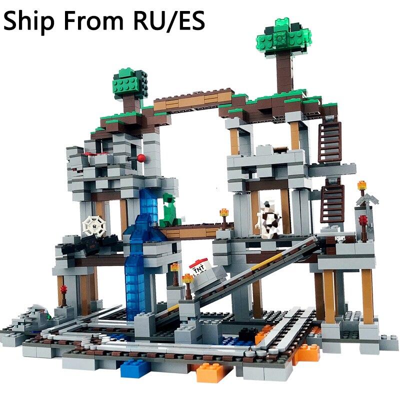 Legoing mon monde blocs 922 pièces Playmobil la Mine mon monde figurines ensemble blocs de construction compatibles Legoings Mini monde enfant jouets