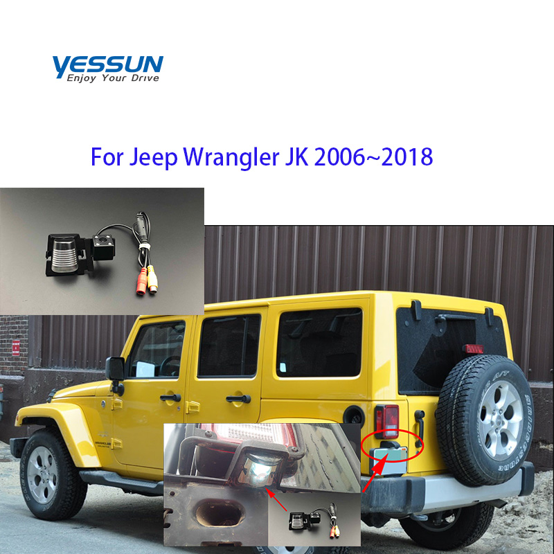 Car Reverse Rear View Camera For Jeep Wrangler JK 2006 2007 2008 2009 2010 2011 2012 2013 2014~2018  License Plate Backup Camera