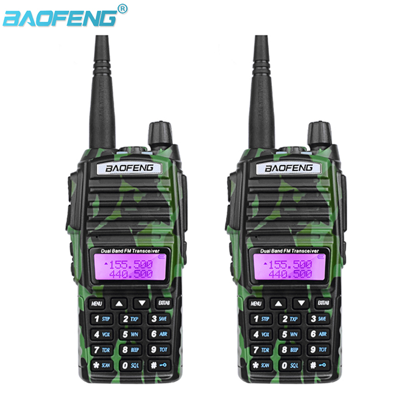 2PCS Baofeng UV-82 Walkie Talkie Cb Radio UV82 Portable Two Way Radio FM Radio Transceiver Long Range Dual Band Baofeng UV 82