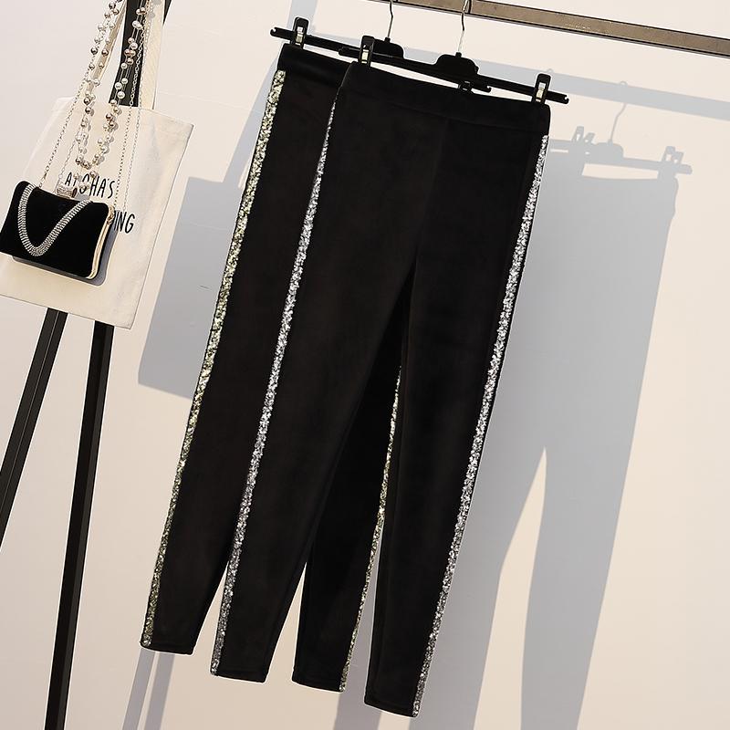 Winter Plus size Black Warm Legging Skinny Thick Velvet Bottoming Fleece Women Leggings Trousers Pant Large Size Pencil Leggings