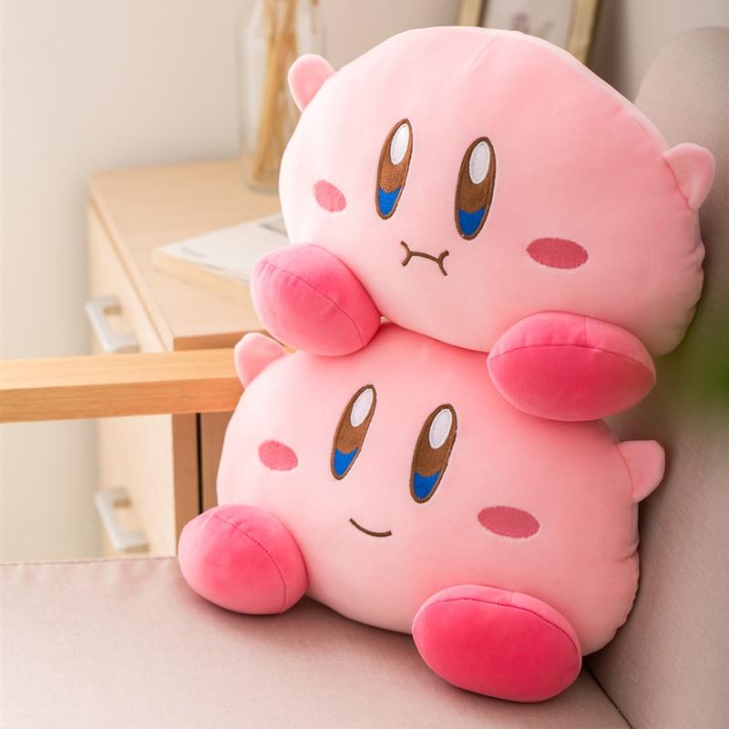 Kirby Plush Car Headrest Backrest Neck Rest Soft Pillow Cushion Kawaii Backpack Messenger Bag Gift 3