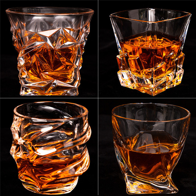 Holiday Party glass cup Whiskey Glass Lead-free Crystal Cups High Capacity Beer Glass Wine Cup Bar Hotel Glassware Brand 7 Types