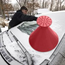 Ice Scraper Useful Car Windshield Snow Removal Magic Outdoor Ice Shovel Cone Shaped Funnel Snow Remover Tool Scrape Car Tool #ED