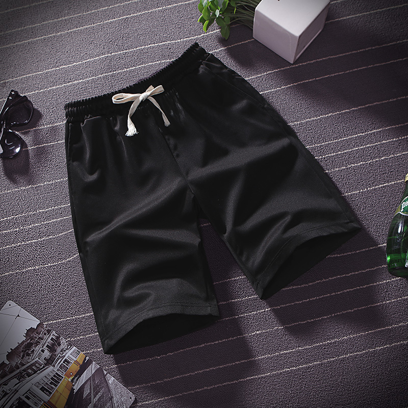 Summer thin ice silk five minute pants men wear loose sports casual shorts pyjama pants beach pants home big pants 3