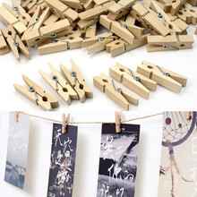 Clips Decoration Photo-Paper Mini Peg Craft Fashion Wood 30x25mm Pin Home-Cake-Spring