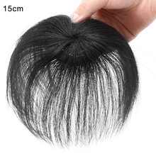 Newly Clip-On Hair Topper Straight Extension Cover White Sparse Hair Hairpiece CLA88(China)