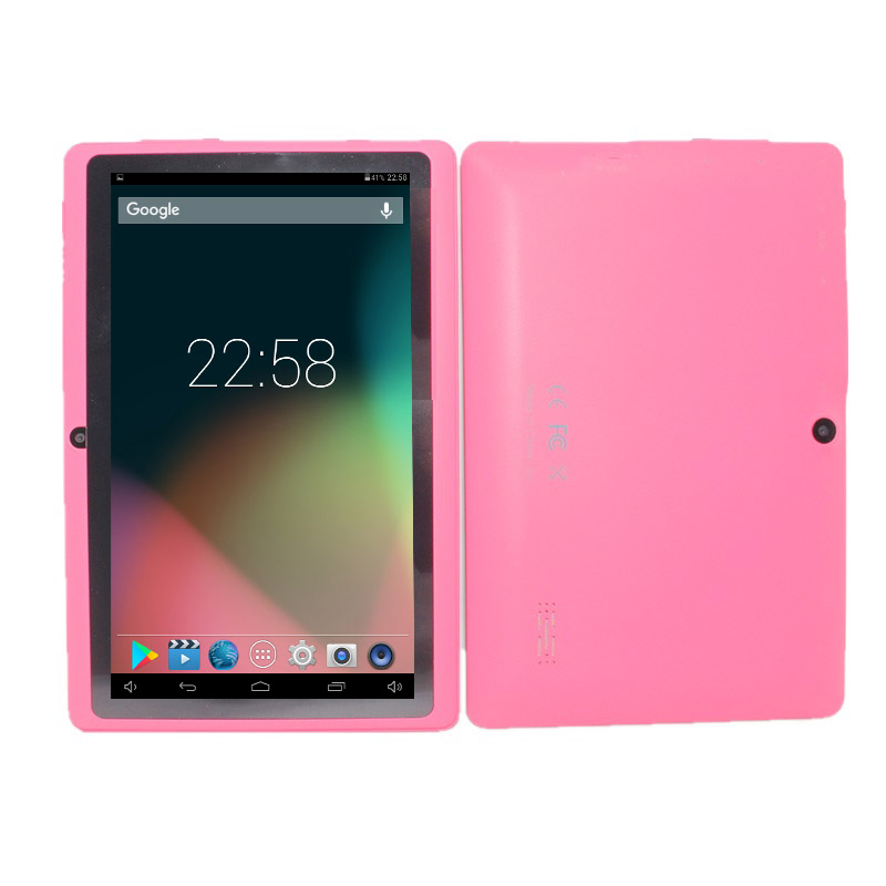 The Cheapest Android Tablet Pc 7 Inch Q88 PRO Android 4.4 512MB+8GB  Allwinner A33 Quad Core Google Player Bluetooth Wifi