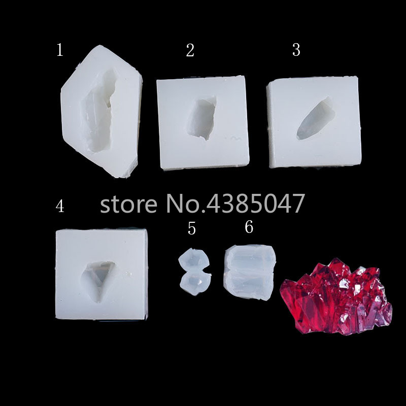 1PC Crystal Stone Pendant DIY Silicone Mold Dried Flower Jewelry Accessories Tools Equipments Resin Molds