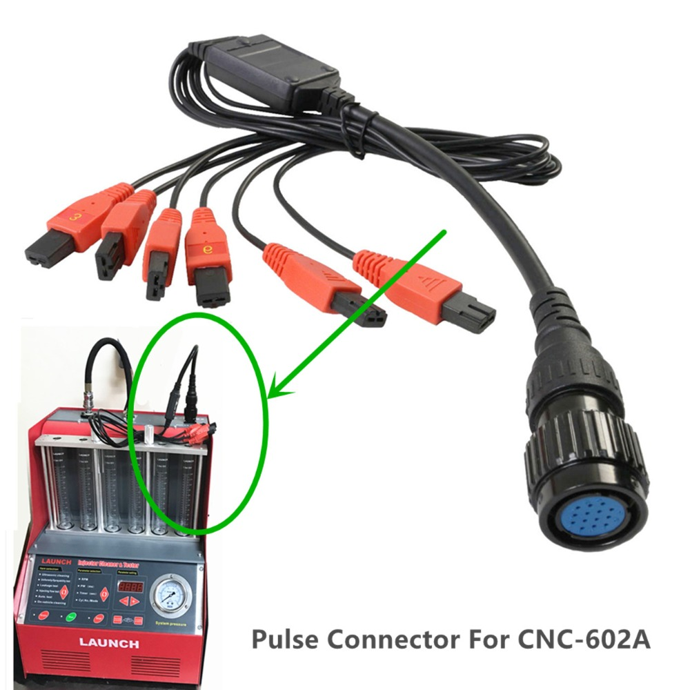 Factory Original Special Pulse Connecting Wire 1 to 6 Injector Test Signal Wire For Launch <font><b>CNC602A</b></font> injector cleaner and tester image