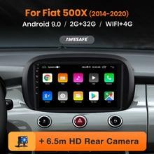 AWESAFE PX9 Radio del coche para Fiat 500X 2014 - 2020 reproductor Multimedia 2Din Android 10 Autoradio GPS navegación 4G Audio por Wifi ESTÉREO