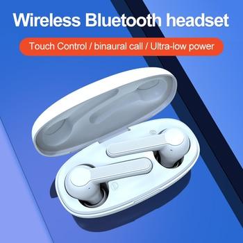 VERFANS Mini TWS Wireless Earphone Bluetooth 5.0 Earphones With Charging Power Bank Built-in Microphone Sports Running Headset
