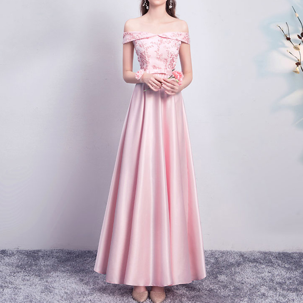 Elegant Pleated Off Shoulder Bridesmaid Dresses Chiffon Wedding Evening Gown Illusion Lace Embroidery Prom Party Long Robe