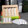 Цвета и фруктов двусторонняя игра логическое мышление обучение детей обучающие игрушки для детей деревянная игрушка Монтессори игрушка