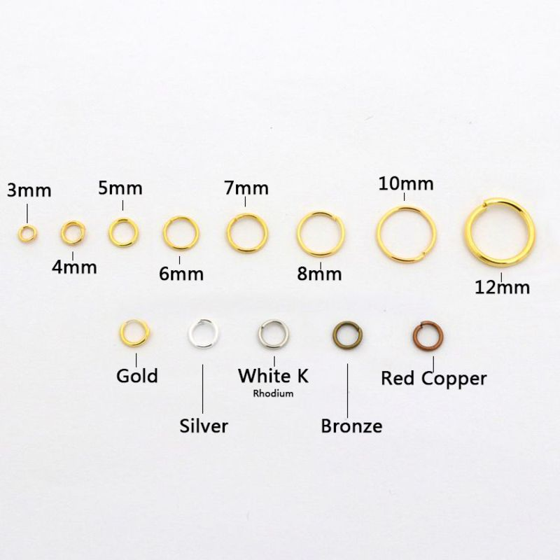 200pc Silver 3 4 5 6 8 10 12 Split Jump Rings Connector For Jewelry Making Bracelet Necklace Earrings Diy Accessories Wholesale