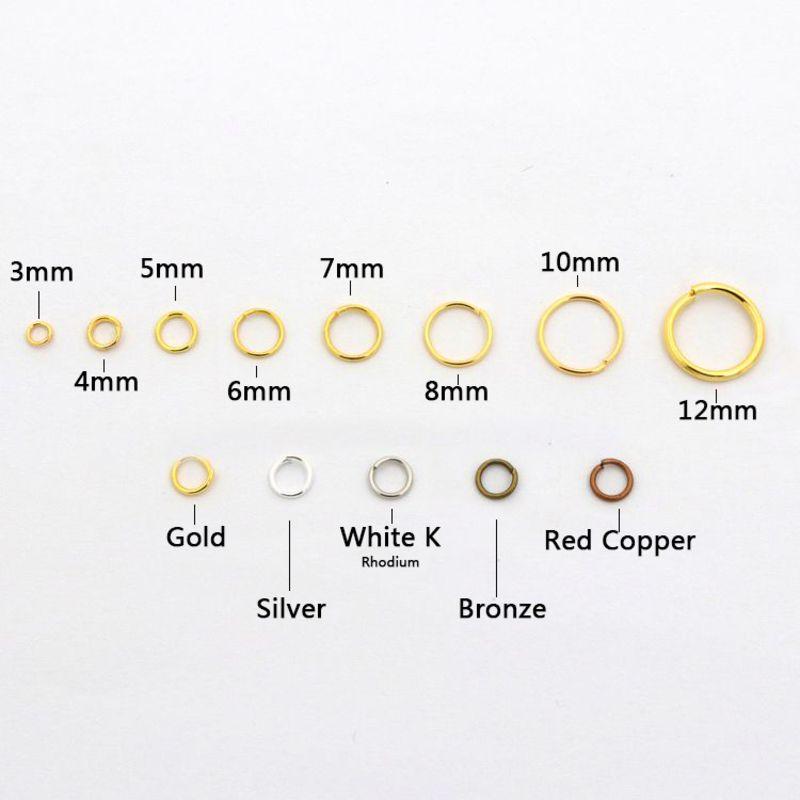 14mm 10pcs Antique Brass Bronze Jump Rings Jewelry Findings Open Split Earrings