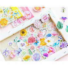 45Pcs/Pack Kawaii Japanese Decoracion Journal Cute Diary Flower Stickers Scrapbooking Flakes Stationery School Supplies