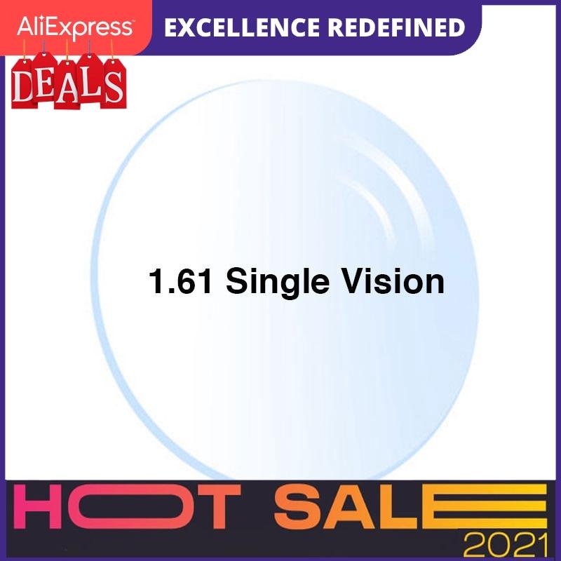 Radiation Protection 1.61 High-Index Thin Clear Optical Lens Hmc Emi Asphere Anti Uv Myopia Hyperopia Prescription Lenses